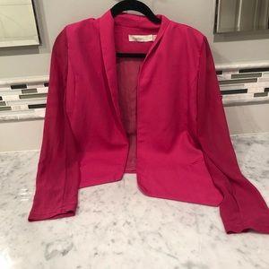 costa blanca pink sheer blazer